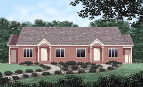 Multi-Family Plan 45362 with 4 Beds, 2 Baths Elevation