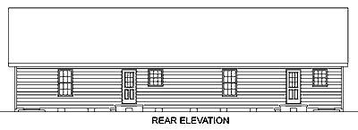 Ranch Multi-Family Plan 45363 Rear Elevation