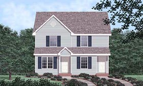 Multi-Family Plan 45367 Elevation
