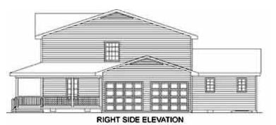 Country House Plan 45376 with 4 Beds, 4 Baths, 2 Car Garage Picture 1