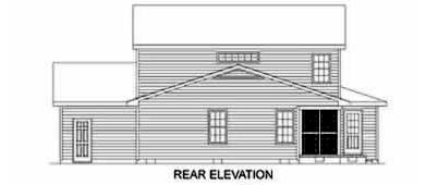 Country House Plan 45376 Rear Elevation