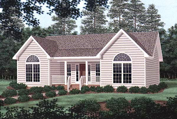 Traditional House Plan 45377 Elevation