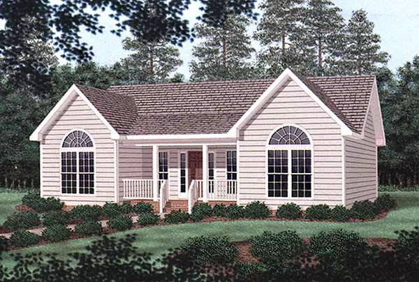 Traditional House Plan 45377 with 3 Beds, 2 Baths Elevation