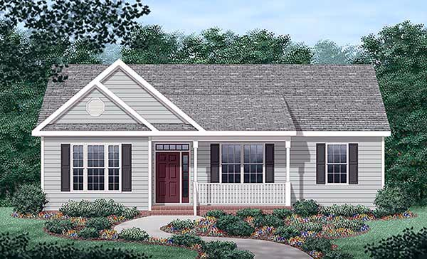 Traditional House Plan 45378 Elevation