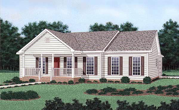 Ranch House Plan 45380 Elevation