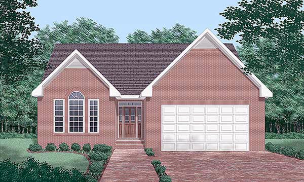 Traditional House Plan 45388 Elevation