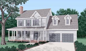 Country House Plan 45389 Elevation