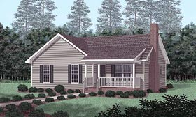 House Plan 45391 | Traditional Style Plan with 1248 Sq Ft, 3 Bed, 2 Bath Elevation