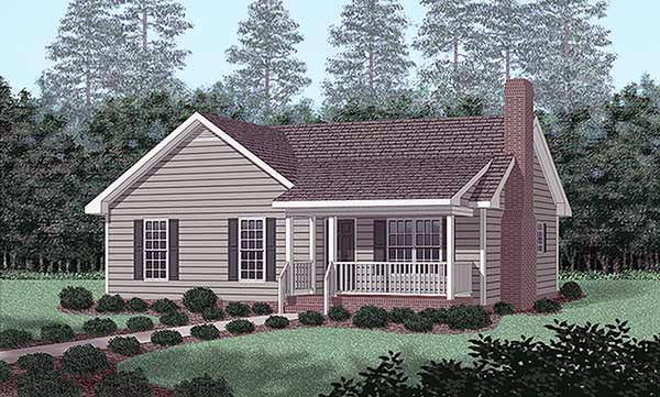 Traditional House Plan 45391 Elevation