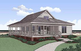 Southern House Plan 45392 Elevation