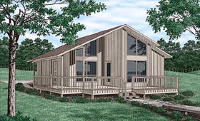 Contemporary House Plan 45395 Elevation