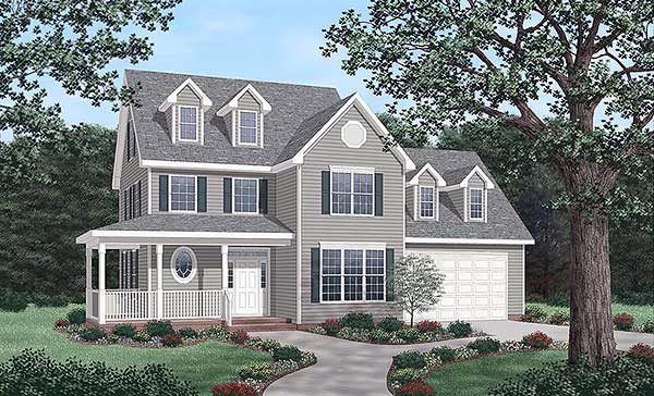 Farmhouse House Plan 45396 Elevation