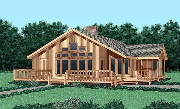 Contemporary House Plan 45398 Elevation