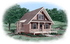 House Plan 45399 Elevation