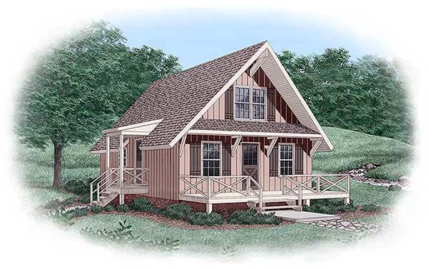 House Plan 45399 Elevation