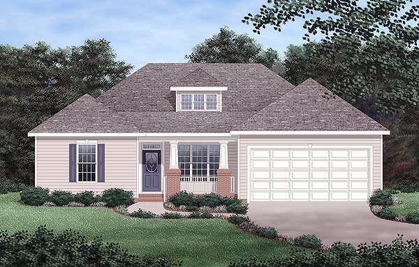 Bungalow House Plan 45401 Elevation