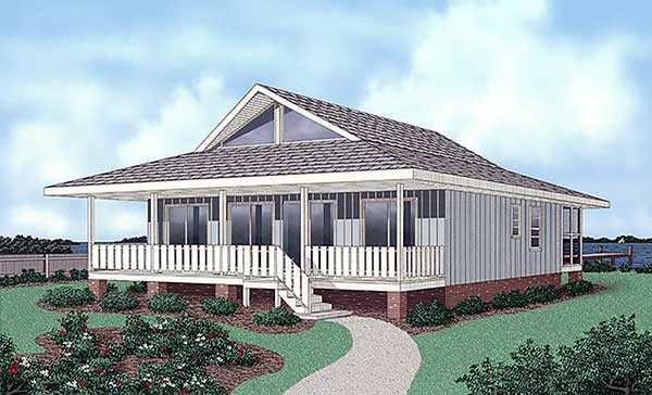 Contemporary House Plan 45402 Elevation