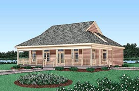House Plan 45403 | Country Style Plan with 1886 Sq Ft, 4 Bedrooms, 3 Bathrooms Elevation