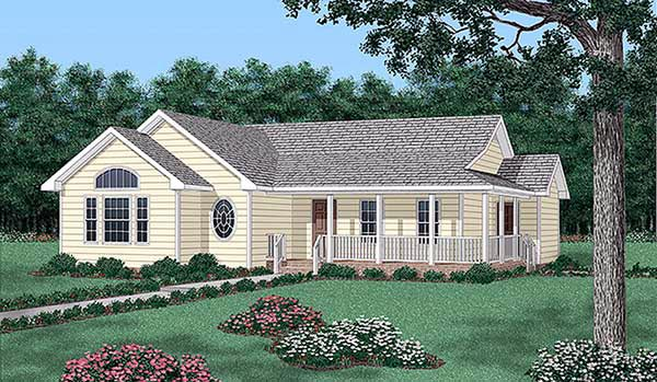 Ranch House Plan 45404 Elevation