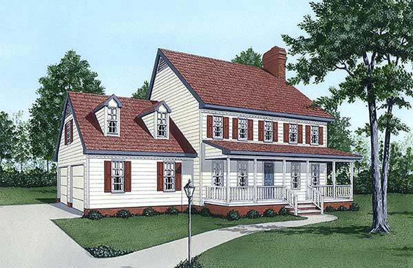 Country House Plan 45406 Elevation