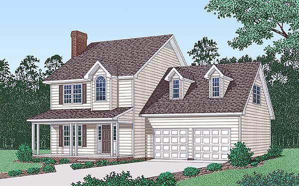 Country House Plan 45407 Elevation