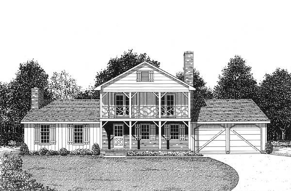 Country House Plan 45408 Elevation