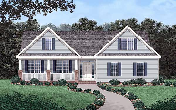 Traditional House Plan 45409 Elevation