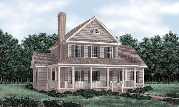 Farmhouse House Plan 45414 Elevation