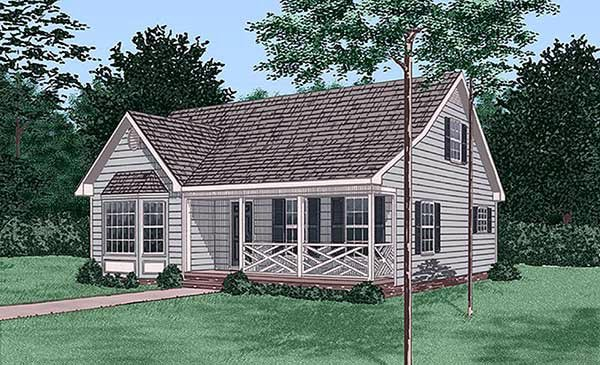 Ranch House Plan 45415 with 3 Beds, 3 Baths Elevation