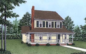 House Plan 45419 | Country Style Plan with 1572 Sq Ft, 3 Bedrooms, 3 Bathrooms Elevation