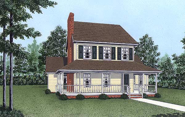 Country House Plan 45419 with 3 Beds, 3 Baths Elevation