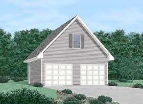 Garage Plan 45425 Elevation