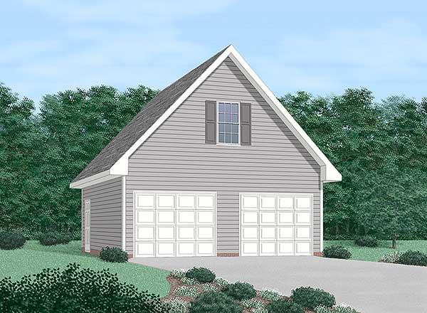 2 Car Garage Plan 45425 Elevation