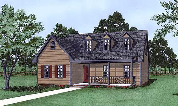 Cape Cod House Plan 45426 Elevation
