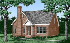 House Plan 45427 | Traditional Style Plan with 1867 Sq Ft, 3 Bedrooms, 3 Bathrooms Elevation