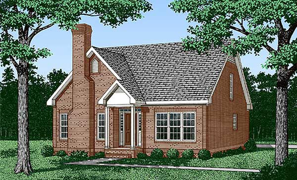 Traditional House Plan 45427 Elevation