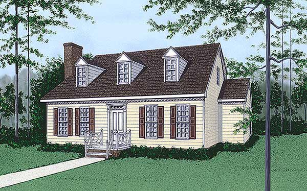Cape Cod House Plan 45429 Elevation