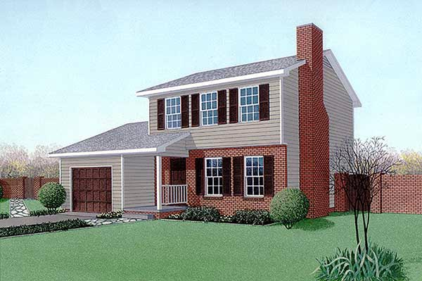 Traditional House Plan 45430 Elevation