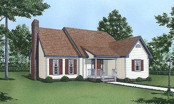 Cape Cod House Plan 45434 Elevation