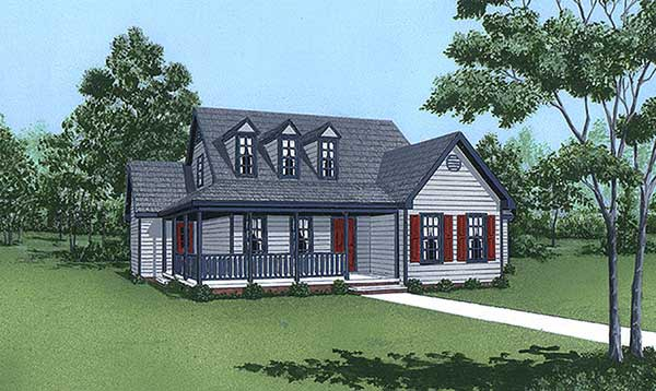 Cape Cod House Plan 45436 Elevation