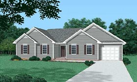 Traditional House Plan 45437 Elevation