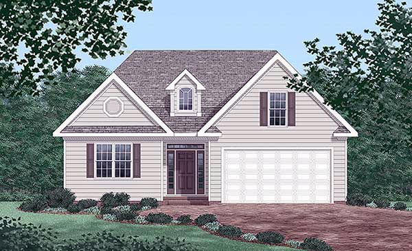 Traditional House Plan 45439 with 3 Beds, 2 Baths, 2 Car Garage Elevation