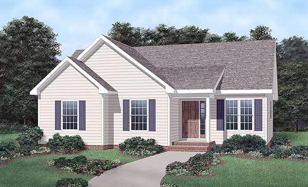 Traditional House Plan 45443 Elevation