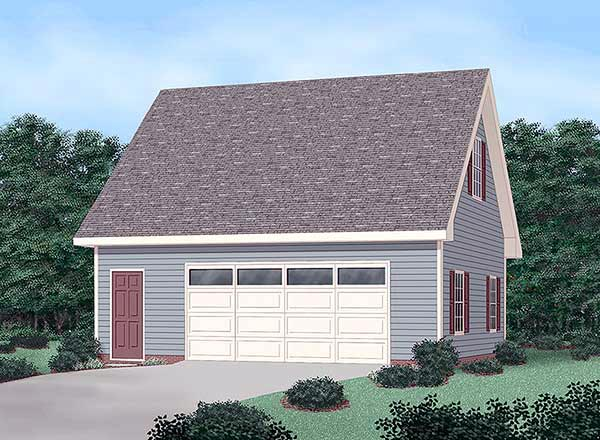 Garage Plan 45444 | Style Plan, 2 Car Garage Elevation