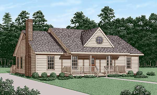 Country House Plan 45448 Elevation