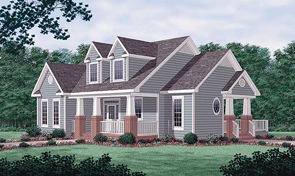 Bungalow House Plan 45451 Elevation