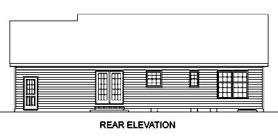 Country House Plan 45455 Rear Elevation