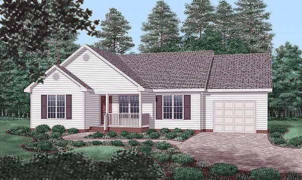 Traditional House Plan 45457 Elevation