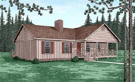 Country House Plan 45462 Elevation
