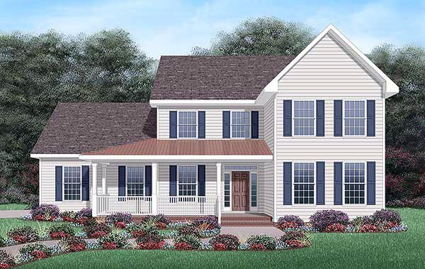 Traditional House Plan 45466 Elevation